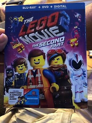 NEW - The Lego Movie 2 The Second Part - (Bluray + DVD + Digital) with Slipcover