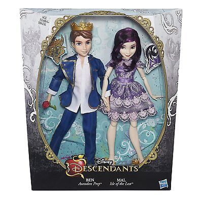 Disney Descendants Two-Pack Mal Isle of the Lost and Ben Auradon Prep Dolls NEW