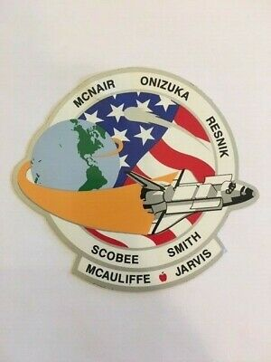Teacher Space Mcauliffe Customers First Collectibles Nasa Sticker Pair Vtg Sts-51l Space Shuttle Challenger