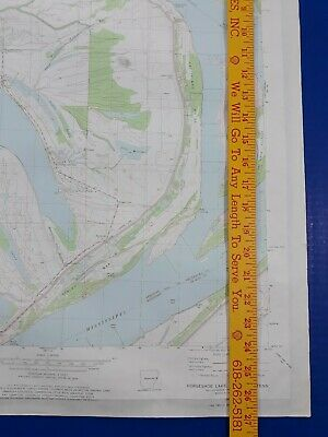 Horseshoe Lake Arkansas 1982 Original Vtg Geological Survey Topo Quadrangle Map