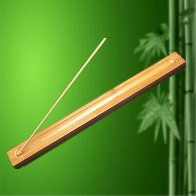 1X Bamboo INCENSE STICK HOLDER New Style ash Catcher Wooden hotel,home Hot AU