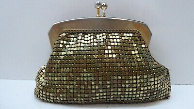 Vintage Small Gold Glomesh Ladies Purse - Made In  Australia