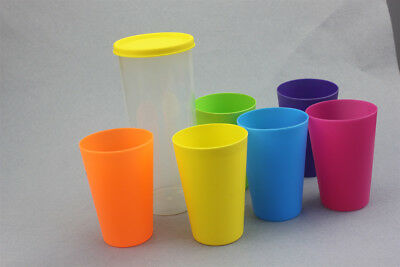 23c1b3554f4 7 Pcs Plastic Drinking Cups Mugs Tumblers Children Kids Party BBQ Outdoor  Picnic
