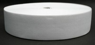 25 Meter Elastic Band 45 mm wide - White