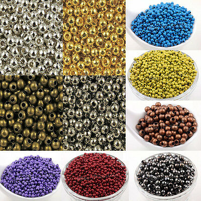 3mm 4mm 5mm 6mm 8mm Metal Round Loose Spacer Bead Bronze&Gold&Silver Plated etc.