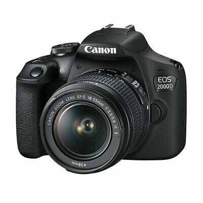 New Canon EOS 2000D DSLR Camera and EF-S 18-55 mm f/3.5-5.6 IS II Lens IT*1