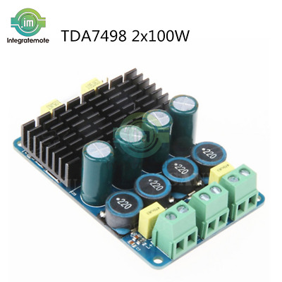 TDA7498 2*100W Dual-Channel Digital Audio Stereo Class D Power Amplifier Board