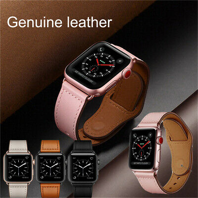 40/44mm Genuine Leather Apple Watch Band Strap for iWatch Series 4 3 2 1 38/42mm