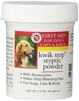 Miracle Care Kwik Stop Styptic Powder For Dogs, Cats & Birds - 1.5 Oz./42 g