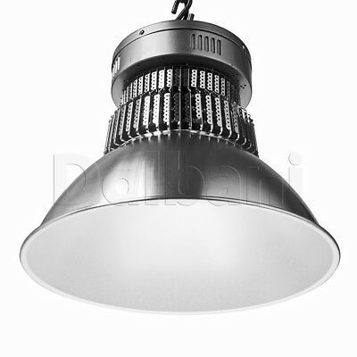 High Bay Commercial Light Fixture 200W Silver Aluminum 3030 SMD .9 PF 6000K