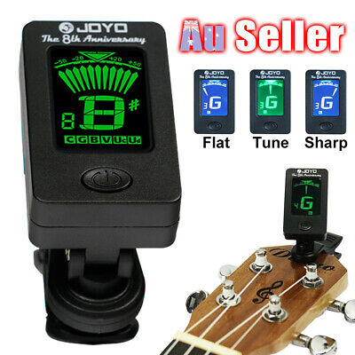 ^13!W Guitar Tuner *Clip On Chromatic Bass OUD JOYO Violin Banjo Ukulele