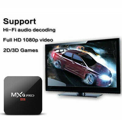 Newest Ultra 4K MXQ Pro Quad Core Android TV Box HD Sports 3D Media Player UK kk