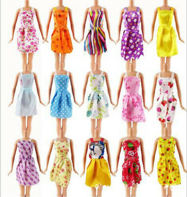 "10Pcs Lot Beautiful Handmade Dresses Clothes For 11"" Doll Style&Color Random CA"