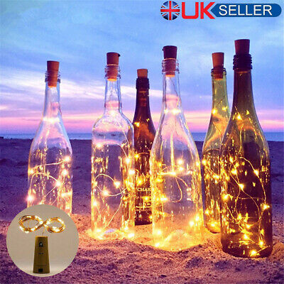 1-10pcs 10/20 LED Battery Micro Rice Wire Copper Fairy String Lights Party White
