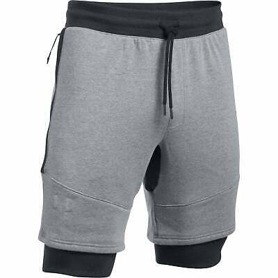 0a2bc6e20 Under Armour Threadborne Fleece Patterned Shorts Running - True Grey Heather