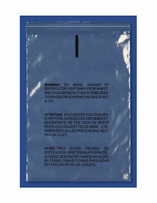 Poly Bag Resealable Suffocation Warning 1.5 Mil 12x15.5 1000, 22x24 500 1500 Pcs