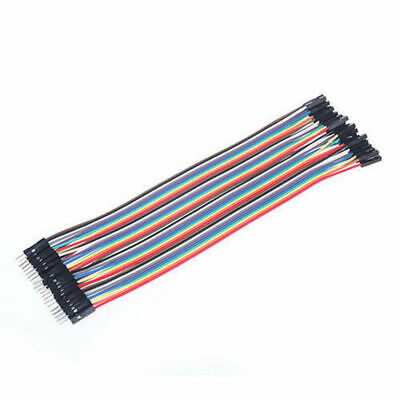 40pcs Dupont Wire Kit Jumper Cables Line Cord 20cm 2.54MM Male To Female 1P-1P