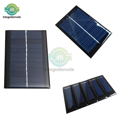 100mA 0.5V//6V 0.6W//1W Solar Panel Module Cell Photovoltaic Battery Charger BBC