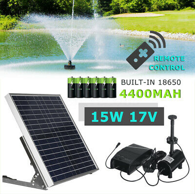 Solar Power Fountain Submersible Water Pump With Filter Remote Pond Pool 1350L/H