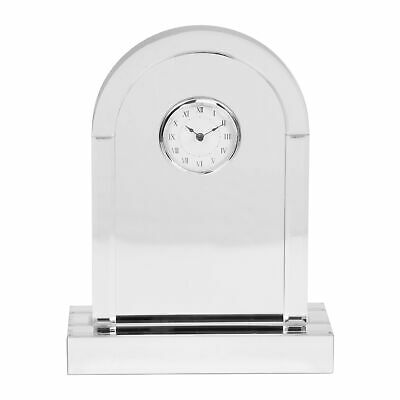 Mirror Glass Arched Mantel Table Clock 36cm Roman Numerals