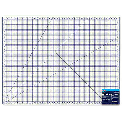 """36"""" x 48"""" WHITE/BLUE Self Healing 6-Ply Double Sided Durable PVC Cutting Mat"""