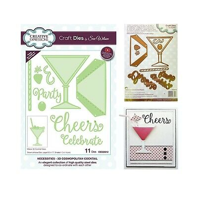 Memory Box metal dies 99353 Food drinks Martini Glass die set Cocktail Hour