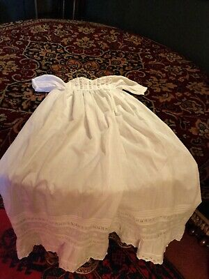 Victorian Cotton Lace Baby/christening Gown.