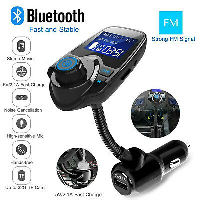 Nulaxy 1.44 LCD Wireless Bluetooth FM Transmitter In-Car Radio Adapter Car Kit