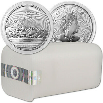 2019 P Australia Silver 2 oz Next Generation Crocodile $2 TEN Coins in Mint Tube
