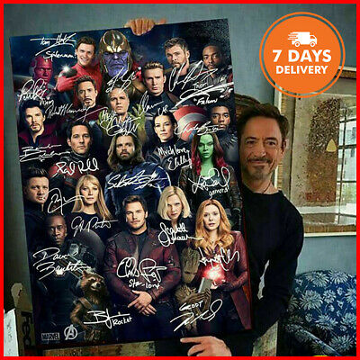 Avengers Endgame Marvel Superheroes Signatures Portrait Poster No Frame From US