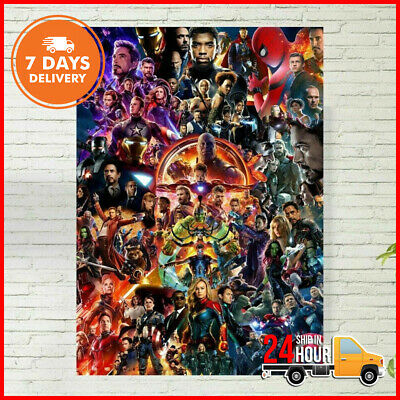 22 Marvel Cinematic Universe COLLAGE Poster Avengers End Game Poster No Frame US