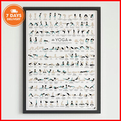 Yoga poster - 150 Poses Your Body Wishes to Practice Poster No Frame US Supplier