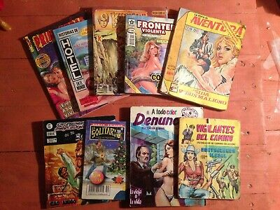 Mexican Comics Lot Of 9, Spanish, Differents Titles