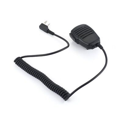 Shoulder Speaker Mic 2Pin Microphone For KENWOOD Baofeng BF-888s UV-5R Radios QA