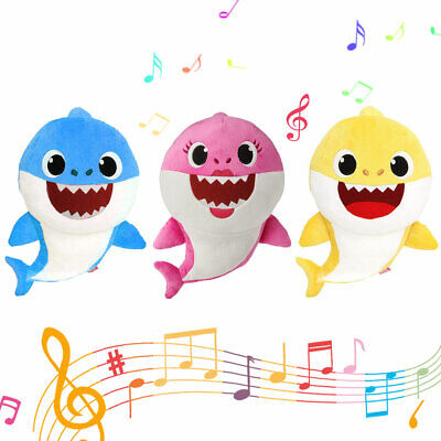 Baby Shark Doo Doo Plush Singing Toys Music Doll English Kids Song Gift Toy AU