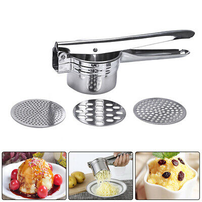 Stainless Steel Potato Ricer Manual Masher for Potatoes Fruits Vegetables #D