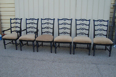 59463 Set of 6 Ebony Dining Room Chairs Chair s