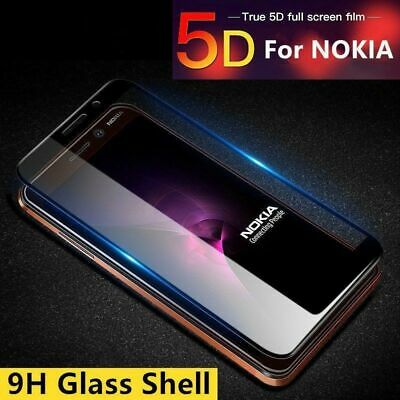 5D Curved Full Coverage Tempered Glass Screen Protector For Nokia 8 6 5 3 Dr