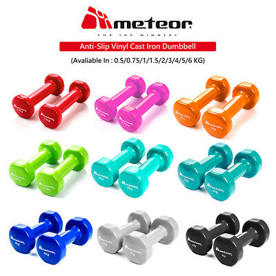METEOR Anti-Slip Dumbbell Pair Weight Home Gym Fitness Exercise Workout Training