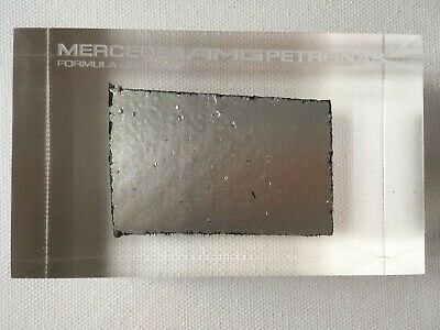 Formula One Genuine Mercedes AMG Petronas F1 Carbon Fibre Bodywork in Perspex