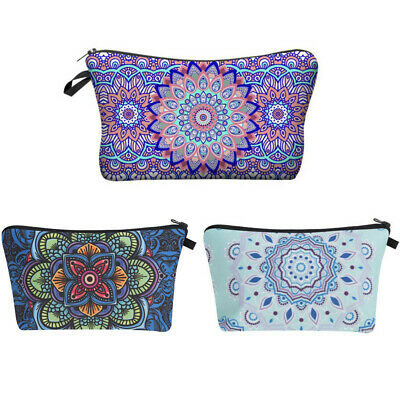 Women Mandala Cosmetic Make-Up Bag Zipper Travel Make Up Wash Storage Case New