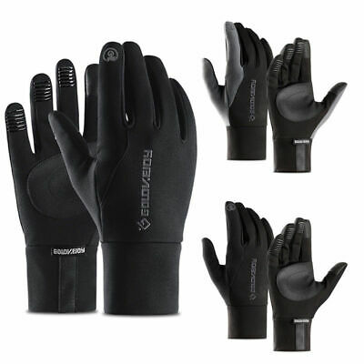 Bike Gloves Winter Thermal Warm Full Finger Cycling Glove Touch Screen Windproof