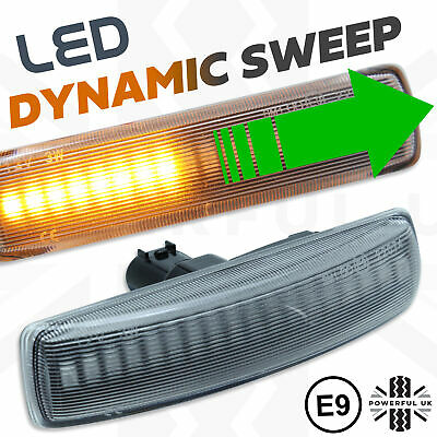 Dynamic sweep LED side repeaters Audi style Indicators fits Sport 05-12 flashers