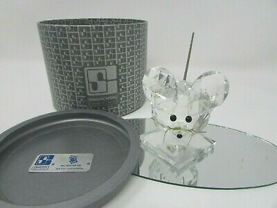 "Swarovski Crystal Large Mouse With Base Coil Tail 2-7/8""H With Box"