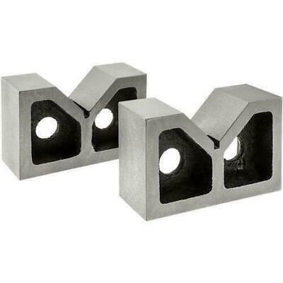 """Cast Iron Vee Block 2"""" V Block Set Of 2 Piece - Without Clamp - New"""