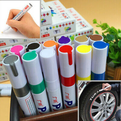 Permanent Car Tyre Tire Metal Paint Pen Oil Based Marker Waterproof 12 Colours