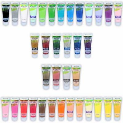 Urban Living Art Acrylic Paint Set Bundle 75ml tube Glitter Pastel Metallic