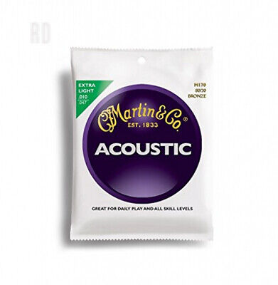 Martin M170 Extra Light Acoustic Guitar Strings Single Pack