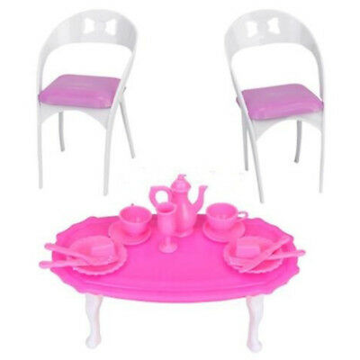 1/6 Dining Table Chair for Barbie Dolls House Living Room Furniture DJUK