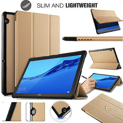 """Huawei MediaPad T5 10.1"""" Tablet Smart Folio Magnetic PU Leather Stand Case Cover"""